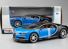 BUGATTI CHIRON 1/24 Die Cast Model Car Metal Models Cars Miniature Blue