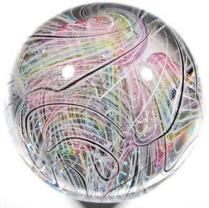 "Hot House Glass ""Rerun"" marble 1.70"" 43mm #491"
