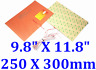"""9.8"""" X 11.8"""" 250 X 300mm 250W w 3M 3D Printer Heat Bed CE Silicone Rubber Heater"""