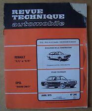 ) REVUE TECHNIQUE AUTO 344 - OPEL REKORD 2100 D - 1975