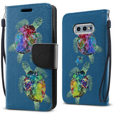 """For Samsung Galaxy S10E G970 5.8"""" Sea Turtles Family Wallet Card Slot Case Cover"""