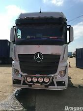 To Fit 12+ Mercedes New Actros MP4 Stainless Steel Grill Light Bar A + Step Pads