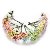 10 Pcs Mini Daisy Artificial Flowers Bouquet Scrapbooking Flower NT