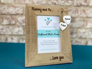 Mummy And Me Happy As Can Be   Mother's Day   Personalised Driftwood Photo Frame