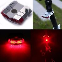 Cycling Bicycle Bike 4 LED Head Front Rear Tail light USB Rechargeable 4 Modes