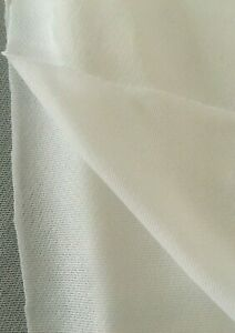 """WHITE LIGHTWEIGHT FUSIBLE INTERFACING WOVEN KNIT 60"""" WIDE 2 YARDS"""
