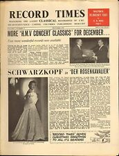 RECORD TIMES NEWSPAPER 1959 12 DECEMBER schwartzkopf/walton belshazzar's feast