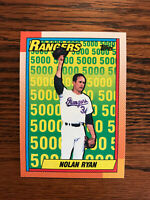 1990 Topps #5 Nolan Ryan Baseball Card Texas Rangers HOF Raw