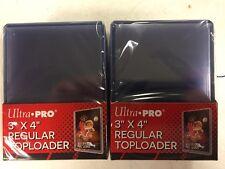 50 Ultra Pro Regular 3 x 4 Toploaders New top loaders Rigid Plastic