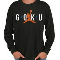 Air Goku Athletic Basketball Anime TV Show Mens Long Sleeve Tee Shirts TShirt