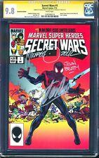 CGC 9.8 SS 3X STAN LEE Secret Wars #1 HeroesCon Variant (#8 Cover Homage) NM/MT