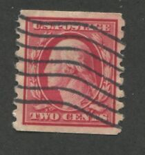 1910 US Coil Stamps #393 2c Used VF Grid Postal Cancel