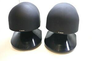 RARE VINTAGE Canon S-30 Wide Imaging Multi Directional Stereo Bookshelf Speakers