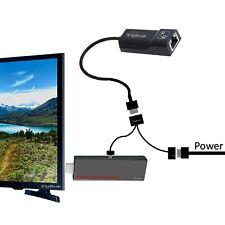 No Buffering LAN Ethernet Adapter for AMAZON FIRE TV STICK 2 3 GEN, CHROMECAST