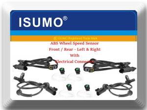 4 ABS Speed Sensor  Front Rear L & R W/Connectors Fits: Tiida Versa 2007-2014