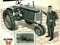 1951 Oliver 66 Tractor Successful Farming Magazine Ad Page