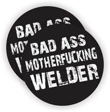2x BAD ASS MOTHERFU#KING WELDER USA Hard Hat Sticker Helmet Decal Fun osha CPR