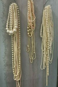 Pearls Strings Job Lot Wedding Decor Table Centre Gatsby 1920s Vintage #3585