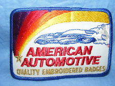 Vintage Old Sew On Patch American Automotive Advertising RARE Embroidered Badge
