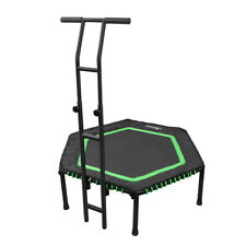 """48"""" Fitness Trampoline Indoor Exercise For Adult Kids With Bar Rebounder Cardio"""