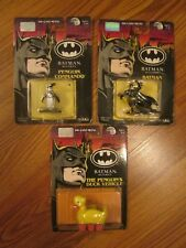 ERTL DC COMICS BATMAN RETURNS Die Cast Metal SET 0f 3 Action Figures  NOC