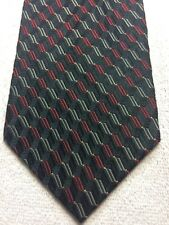 ROBERTO VILLINI MENS TIE BLACK WITH RED AND GRAY 4 X 58