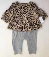 Baby Gap Baby Girl Cheetah Shirred Double Layer One Piece 0-3 Months NEW