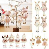 Christmas Plush Feather Angel Doll Christmas Tree Pendants Ornaments Decor Gift