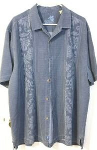 Blue Print Tommy Bahama Silk Shirt XL