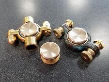 Brass Stainless Fidget Spinner Caps for 608 & 606 bearings hand covers EDC