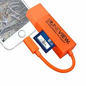 Trail Camera Viewer for iPhone Corded SD Memory Card Reader Plays Video & Pho...