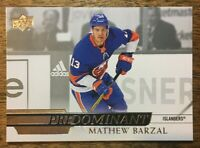 2020-21 UD Predominant - MATHEW BARZAL #PR-35 New York Islanders