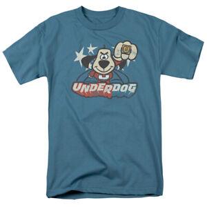 New Licensed Underdog Cartoon Flying Logo Vintage Style T-Shirt S-5XL
