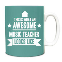 This is what an AWESOME Music Teacher Looks like Mug Gift idea coffee cup 132