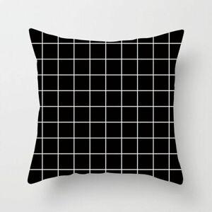 Black & White Geometric Throw Cover Pillow Cushion Square Case Decor Dazzling