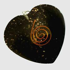Orgone Energy Heart Pendant Black Shungite Orgonite Necklace Copper Coil Reiki