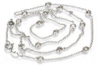 0.3 ct tw Natural Bezel Diamond 14k White Gold 18 inch Layering Station Necklace