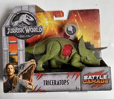 Mattel Jurassic World Battle Damage Dinosaur - Triceratops