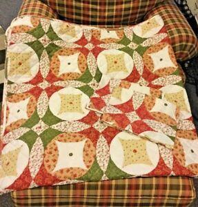 Paragon Queen Quilt Set w/ 2 Pillow Shams Patchwork ~ 86 x 86