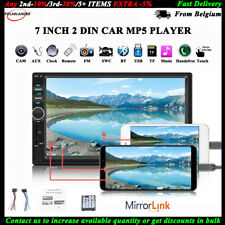 2 DIN 7''Bluetooth Car FM Radio Stereo Mirror Link USB/TF/AUX/Rmote Touch Screen