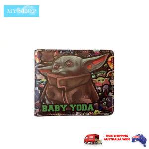 Boys Girls Children Teen-ages Faux Leather Bifold Slim  Wallet- Star Wars Yoda 2