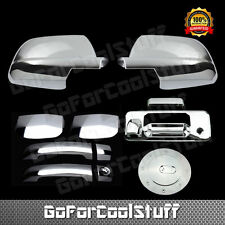 For 2014 Toyota Tundra Chrome 2 Door Handle Full Mirror Tailgate Gas Cap Cover