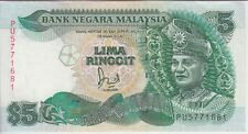 MALAYSIA BANKNOTE P28b-1681 5 RINGGIT USA SELLER  ALMOST UNCIRCULATED
