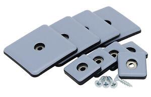 8 x Teflongleiter selbstklebend 30 x 30 mm Möbelgleiter eckig PTFE Gleiter