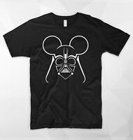 Dark Mouse T Shirt Top Darth Vader Anakin Skywalker Star Wars Disney Mickey