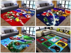 Rugs Anti-Slip RUG Soft Carpet Mat Living Room Floor Bedroom Mario Switch Custom