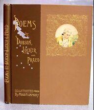 1892 VICTORIAN ERA FASHION COLOR PLATES 1st Ed Poems COLOR Dobson Locker