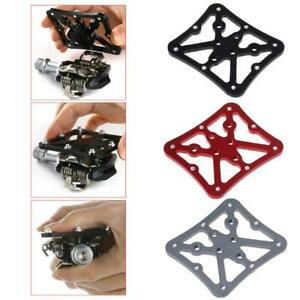 Aluminum Alloy Bike Bicycle Cycling Clipless Pedal Platform Adapters Universal