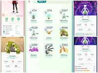 Pokemon Go Acc lv32 - shiny Mewtwo L40 3 moveset, shiny Groudon L40, Kyogre