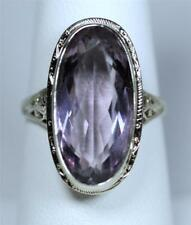 Antique 18K White Gold Amethyst Ring ~ Beautiful